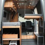 Ausziehbett Camper Graystone Sprinter Conversion Umbau Bett Mit Wohnzimmer Ausziehbett Camper