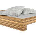 Bett Design Holz Betten Schlicht Massivholz Somnium Minimalistisches Von Rechteck Cz Mit Hohem Kopfteil 180x200 Komplett Lattenrost Und Matratze Regal Weiß Wohnzimmer Bett Design Holz