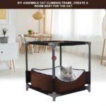 Klettergerüst Indoor Diy Wohnzimmer Katzenspielhaus Katze Klettergerst Pet Nest Haus Spielzeug Hhle Klettergerüst Garten
