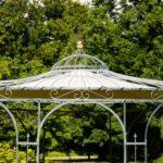 Pavillon Eisen Wohnzimmer Pavillon Eisen Gartenpavillon Rund Faltbarer 3x3m Garten Kaufen