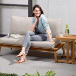 Komfort Gartensofa Tchibo 2 In 1 Inkl Beistelltisch Mit Bildern Wohnzimmer Gartensofa Tchibo