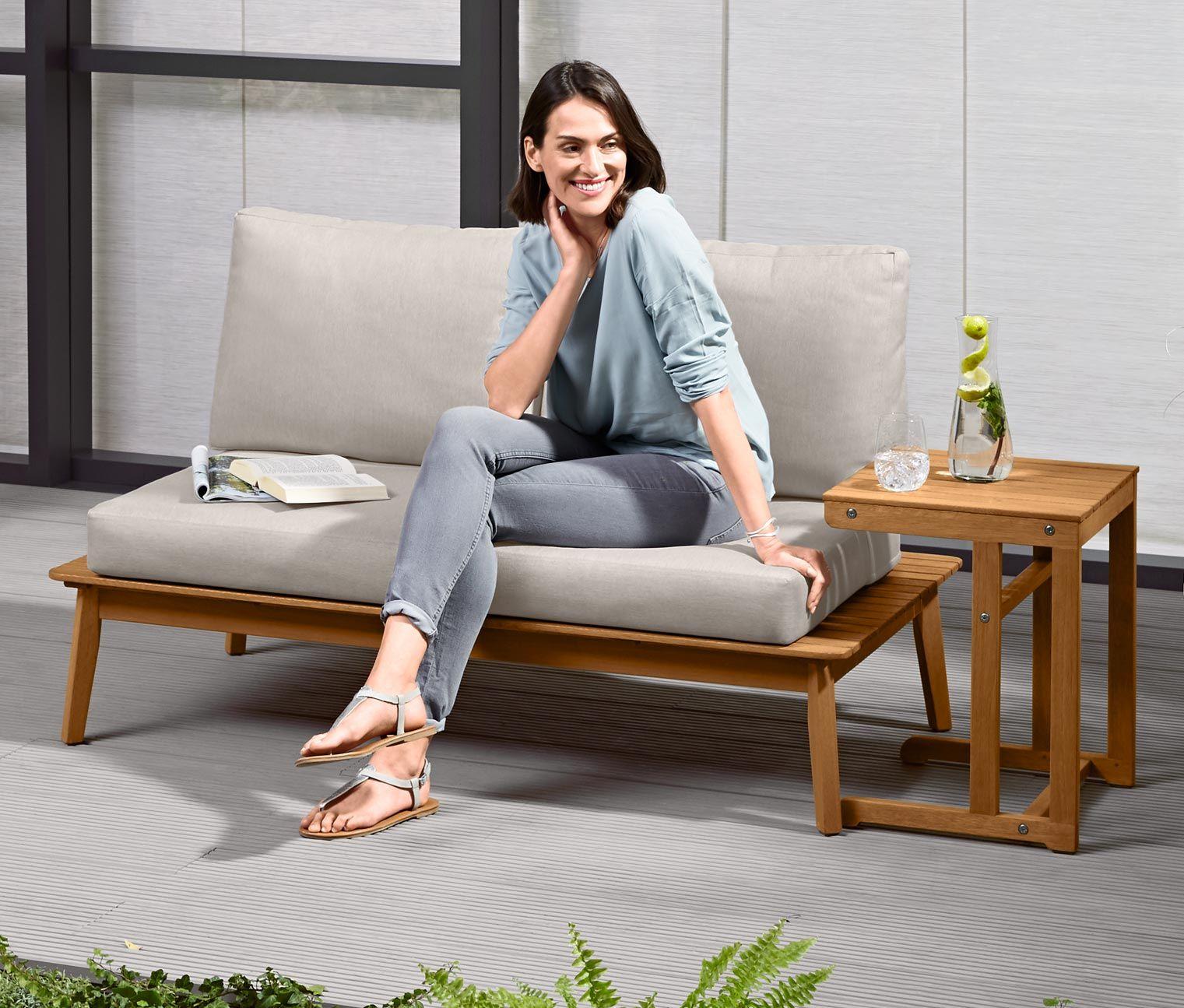 Full Size of Komfort Gartensofa Tchibo 2 In 1 Inkl Beistelltisch Mit Bildern Wohnzimmer Gartensofa Tchibo