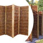 Paravent Bambus Balkon Discountcom Trennwand Mobil Aus Weiden Bett Garten Wohnzimmer Paravent Bambus Balkon