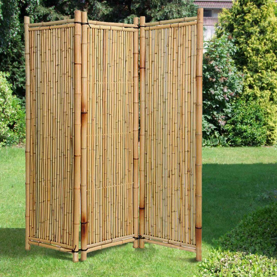 Large Size of Paravent Bambus 3 Teiliger Bambusparavent Deluxe Natur Noor Sichtschutz Shop Bett Garten Wohnzimmer Paravent Bambus