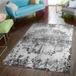 Teppich Schwarz Weiß Modern Wei Teppichmax Schlafzimmer Landhausstil Big Sofa Regal Hochglanz Bad Hängeschrank Badezimmer Bett 160x200 Landhausküche Metall Wohnzimmer Teppich Schwarz Weiß
