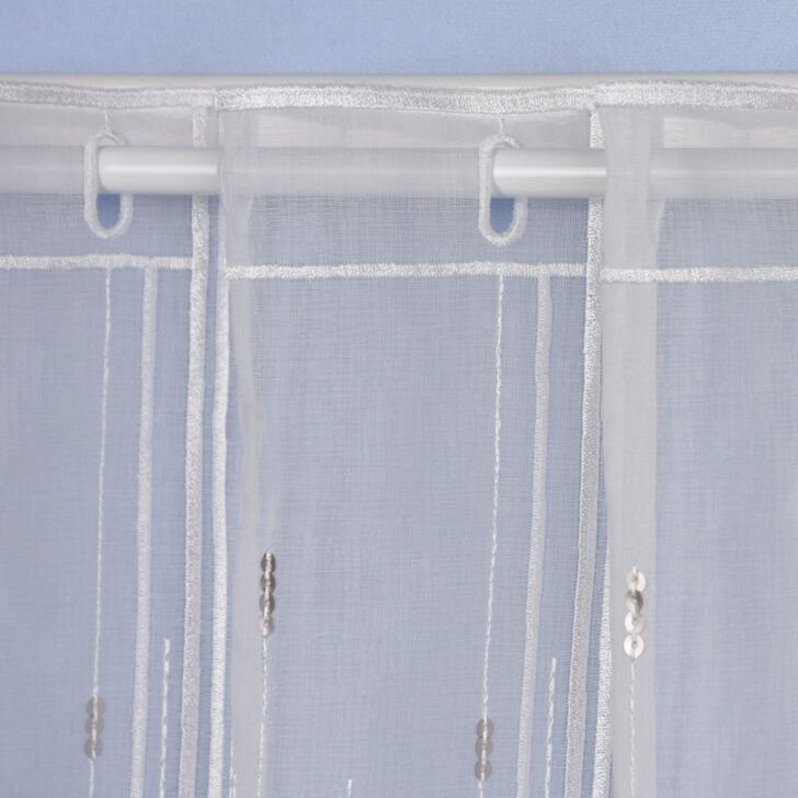 Medium Size of Scheibengardine Industrial Panneaubistrogardine Nhfrei Pailletten Ecru Esstisch Scheibengardinen Küche Wohnzimmer Scheibengardine Industrial