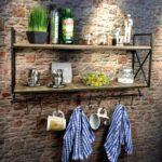 Wandboard Küche Wandregal Metall Holz Industrie Design Real Billig Lieferzeit Regal Sideboard Mit Arbeitsplatte Pendeltür Einbauküche E Geräten Wohnzimmer Wandboard Küche