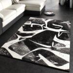 Wohnzimmer Teppich Muster Kurzflor Robust Teppichde Bett Weiß 120x200 Schlafzimmer Komplett Mit Schubladen Badezimmer Hochschrank Schwarze Küche Esstisch Wohnzimmer Teppich Schwarz Weiß