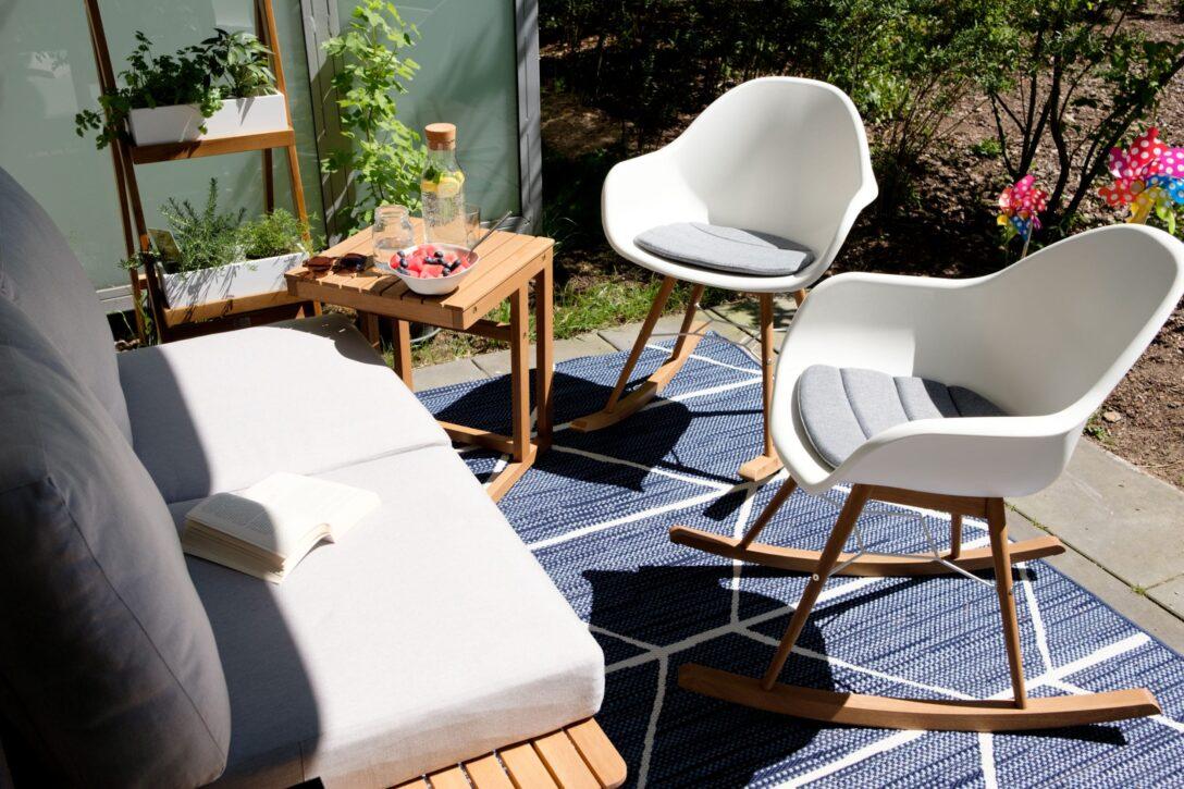 Large Size of Unser Zweites Wohnzimmer Im Grnen Mit Tchibo Terrassenupdate Wohnzimmer Gartensofa Tchibo