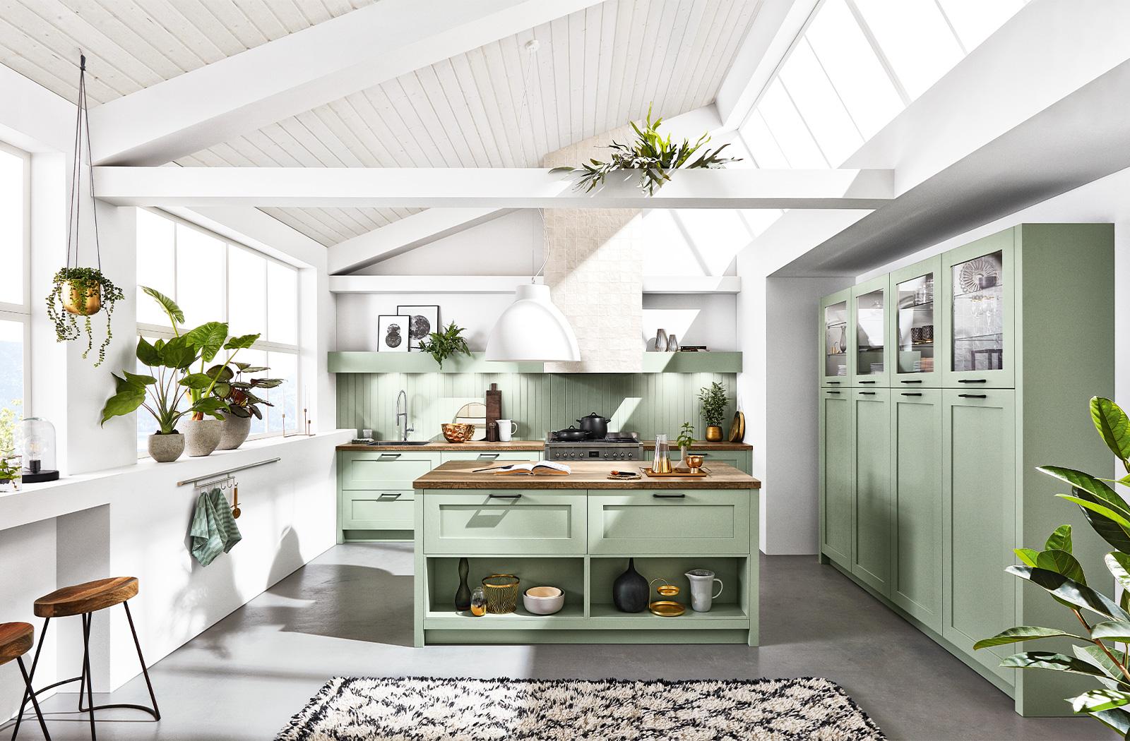 Full Size of Kche Wandfarbe Grn Mintgrn Streichen Ikea Landhausstil Küche Holz Weiß Möbelgriffe Was Kostet Eine Hängeschrank Glastüren Buche Eckschrank Singleküche Wohnzimmer Ikea Küche Mint