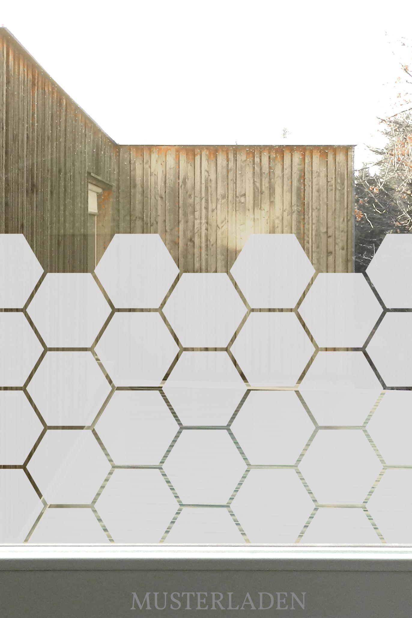 Full Size of Glasdekorfolien Mit Bienenwaben Motiv Musterladen Blickdichte Wohnzimmer Fensterfolie Blickdicht