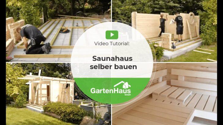 Medium Size of Außensauna Wandaufbau Saunahaus Selber Bauen Anleitung Fr Sauna Im Garten Youtube Wohnzimmer Außensauna Wandaufbau