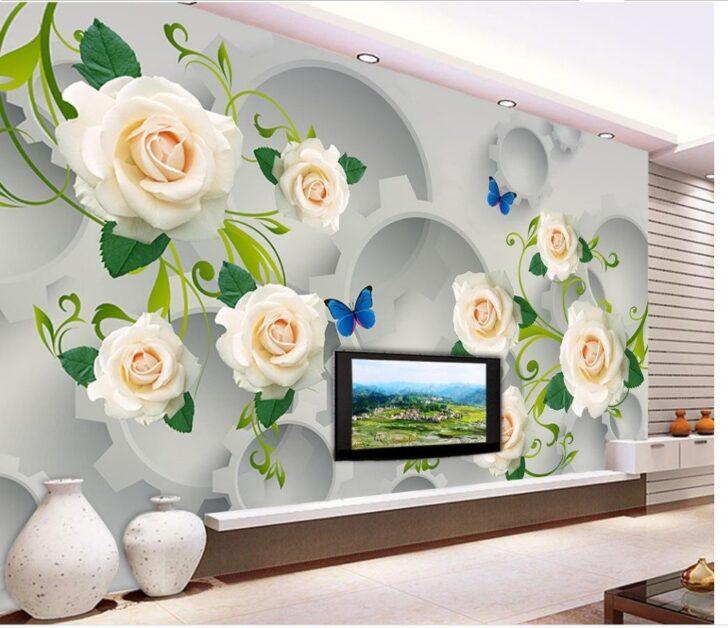 Wohnzimmer Individuelle Fototapeten 3d Stereoskopischen Gear Wei Rose Landhausstil Lampen Hängeleuchte Fürs Tisch Led Lampe Schrankwand Komplett Wohnzimmer Wohnzimmer Wandbilder