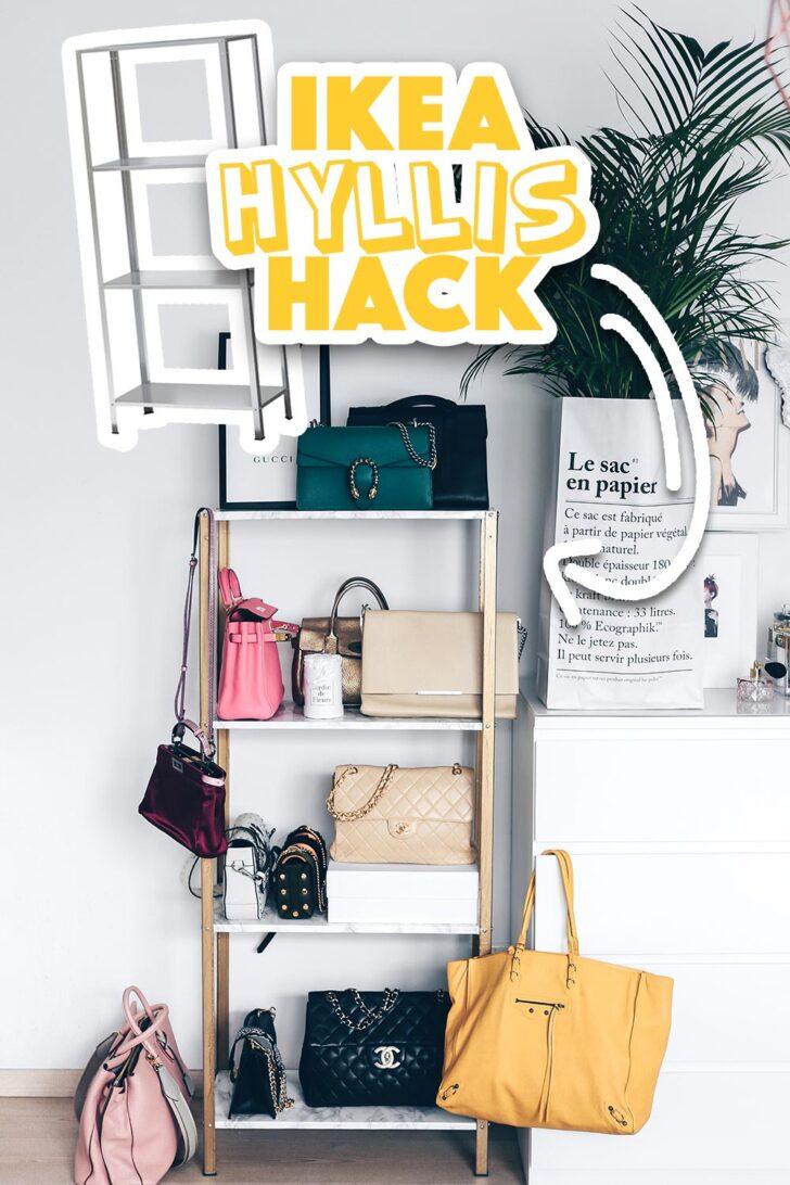 Ikea Hyllis Hack Meine Diy Taschen Aufbewahrung Im Ankleideraum Aufbewahrungsbox Garten Küche Kosten Sofa Mit Schlaffunktion Kaufen Aufbewahrungsbehälter Wohnzimmer Ikea Hacks Aufbewahrung