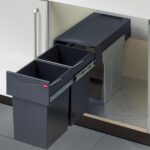 Thumbnail Size of Doppel Mülleimer Abfallsammler Mlleimer Online Kaufen Mbelix Küche Einbau Doppelblock Wohnzimmer Doppel Mülleimer
