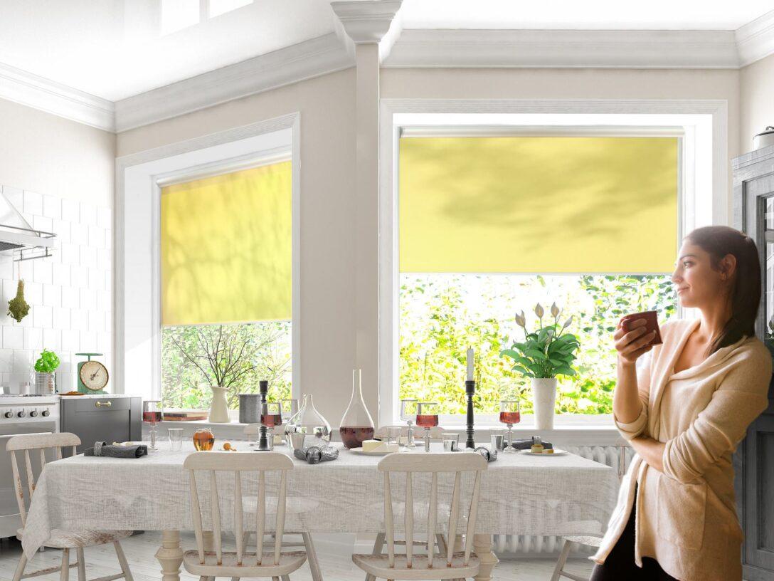 Large Size of Neuen Minirollos Von Rollo Rieper Kleine Kassetten Zum Kleben Raffrollo Küche Wohnzimmer Raffrollo Küchenfenster