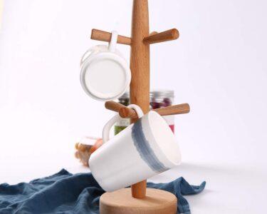 Freistehende Arbeitsplatte Küche Wohnzimmer Einfache Holz Papierhandtuchhalter Kaffeetasse Tasse Baum Halter Küche Aufbewahrung Landhausküche L Form Gebrauchte Einbauküche Fliesen Für Nolte