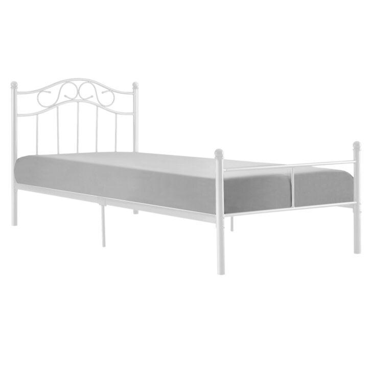 Medium Size of Encasa Metallbett 90x200 Wei Bettgestell Bett Schlafzimmer Weiß 100x200 Betten Wohnzimmer Metallbett 100x200