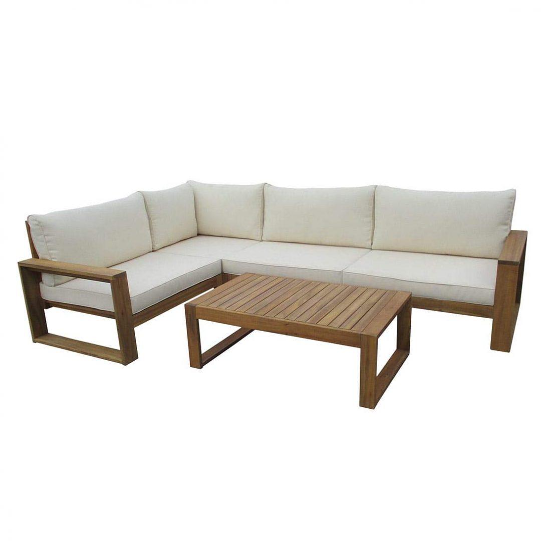 Full Size of Loungembel Holz Outliv Stockton Loungeecke 4 Teilig Akazie Loungemöbel Garten Günstig Wohnzimmer Outliv Loungemöbel