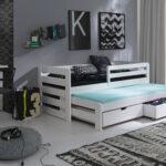 Jugendbett 90x200 Bett Weiß Mit Bettkasten Lattenrost Und Matratze Schubladen Weißes Betten Kiefer Wohnzimmer Jugendbett 90x200