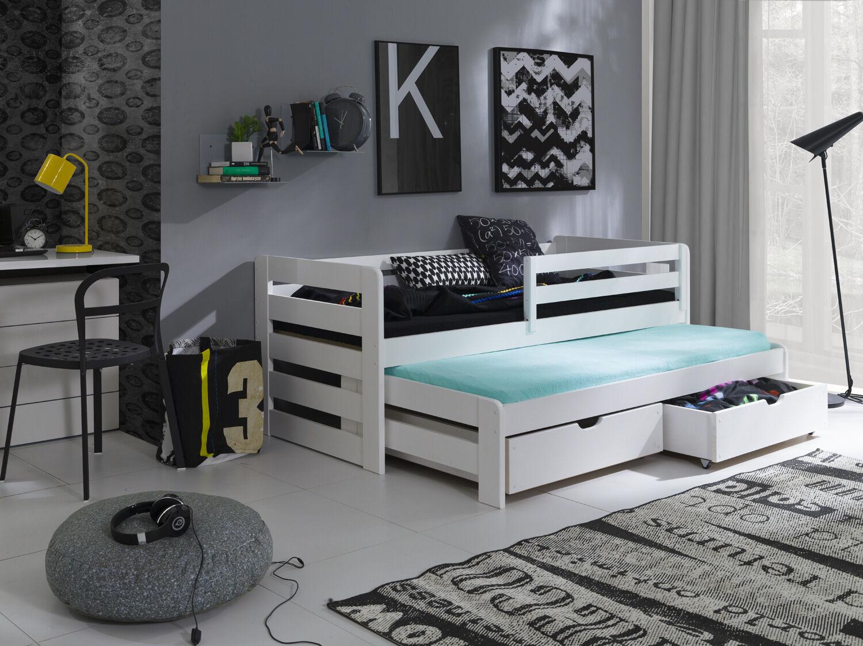Full Size of Jugendbett 90x200 Bett Weiß Mit Bettkasten Lattenrost Und Matratze Schubladen Weißes Betten Kiefer Wohnzimmer Jugendbett 90x200