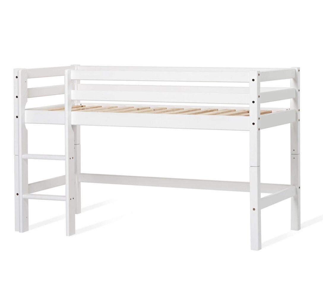 Large Size of Halbhohes Hochbett Bett Aus Kiefer Wei Mit Leiter Und Lattenrost Prinz Wohnzimmer Halbhohes Hochbett