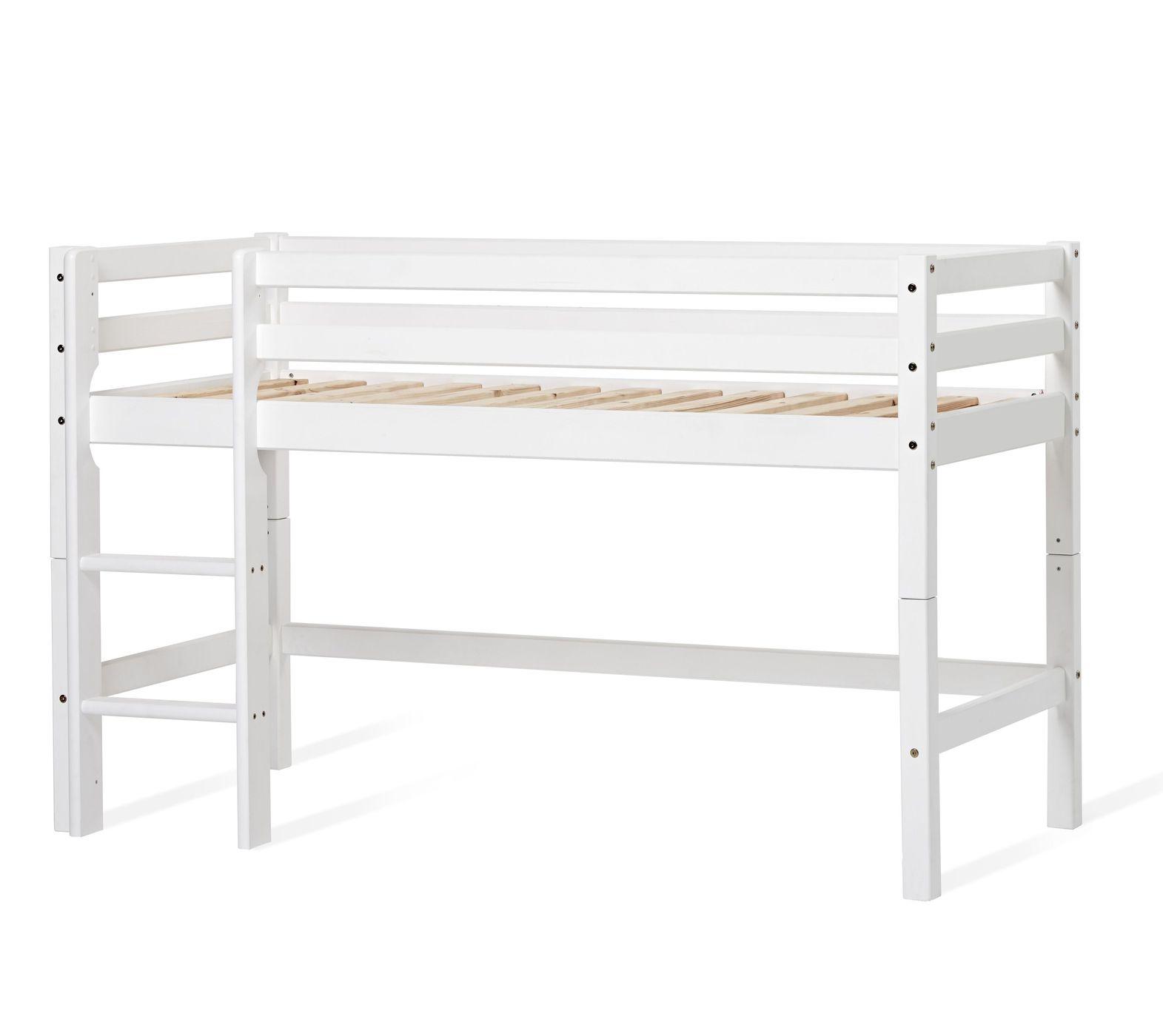 Full Size of Halbhohes Hochbett Bett Aus Kiefer Wei Mit Leiter Und Lattenrost Prinz Wohnzimmer Halbhohes Hochbett