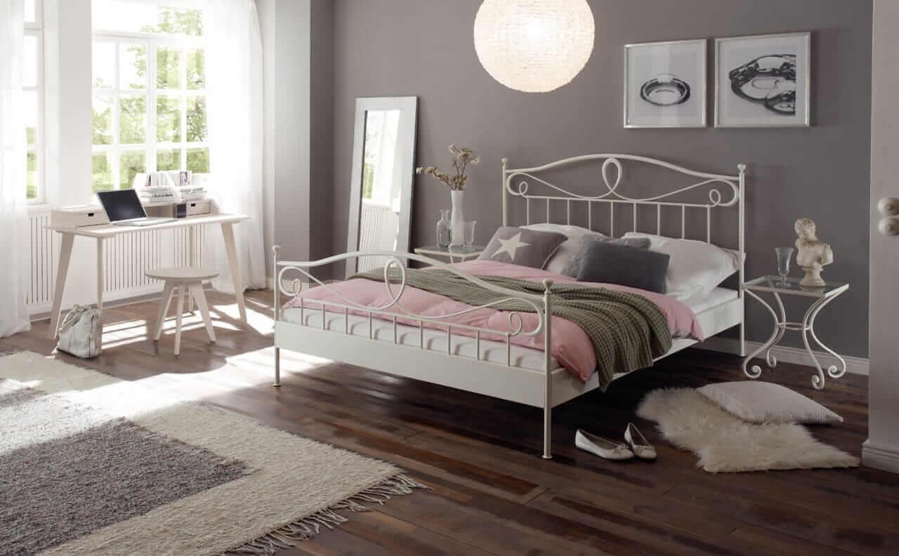 Full Size of Metallbett 100x200 Hasena Romantic Lurano Bett Betten Weiß Wohnzimmer Metallbett 100x200