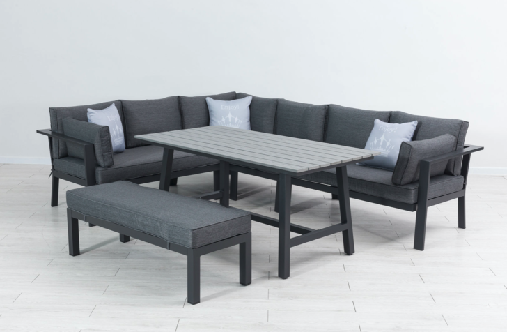 Medium Size of Loungemöbel Alu Aluminium Dining Eck Lounge Set Monalisa Xl Garten Verbundplatte Küche Holz Fenster Preise Günstig Aluplast Wohnzimmer Loungemöbel Alu
