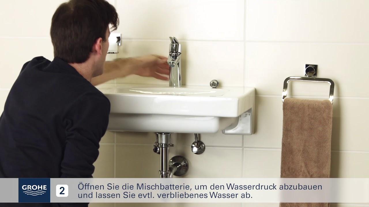 Full Size of Grohe Installationsvideo Austausch Der Kartusche Youtube Küche Wasserhahn Thermostat Dusche Bad Für Wandanschluss Wohnzimmer Grohe Wasserhahn