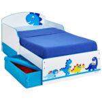 Kinderbett Stauraum Wohnzimmer Kinderbett Dinosaurier Wei Blau Mit Stauraum 142x77cm Arbd Bett Betten 160x200 140x200 200x200