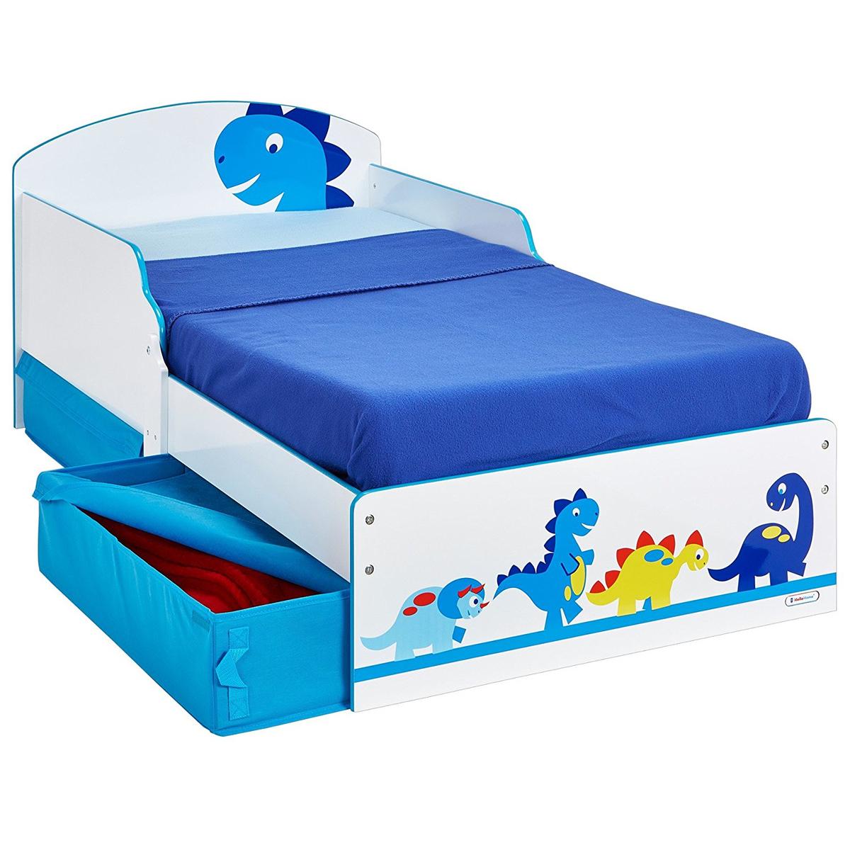 Full Size of Kinderbett Dinosaurier Wei Blau Mit Stauraum 142x77cm Arbd Bett Betten 160x200 140x200 200x200 Wohnzimmer Kinderbett Stauraum