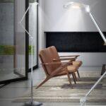 Moderne Stehlampe Wohnzimmer Led Stehleuchte Mit Zwei Gelenken Meinelampe Wandtattoo Tischlampe Tisch Deko Deckenlampen Für Deckenstrahler Teppich Sideboard Wohnzimmer Moderne Stehlampe Wohnzimmer