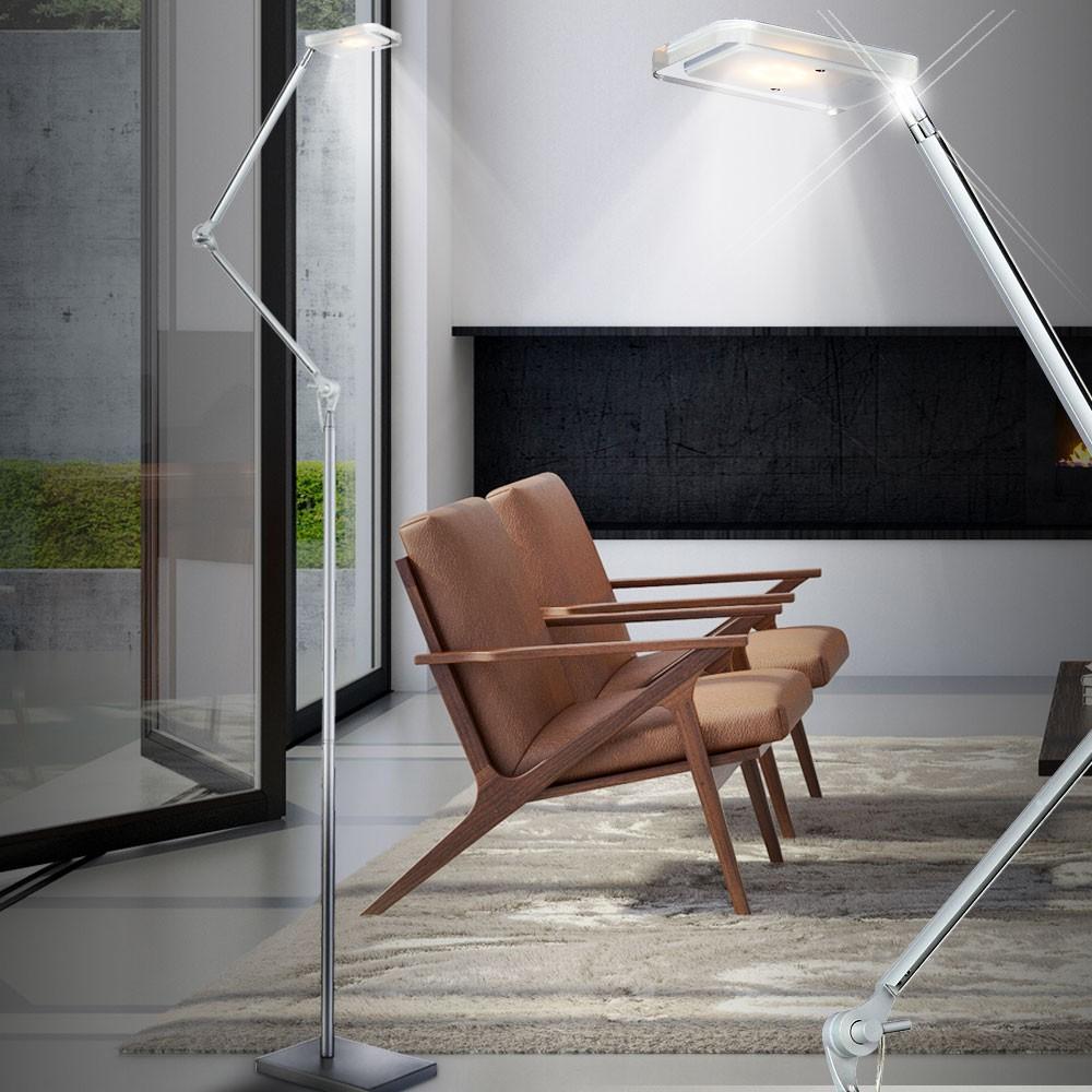 Full Size of Moderne Stehlampe Wohnzimmer Led Stehleuchte Mit Zwei Gelenken Meinelampe Wandtattoo Tischlampe Tisch Deko Deckenlampen Für Deckenstrahler Teppich Sideboard Wohnzimmer Moderne Stehlampe Wohnzimmer