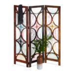 Paravent Bambus Wohnzimmer Trennwand Spanische Wand Raumtrenner Paravent Bambus 4 Teilig 180 Garten Bett