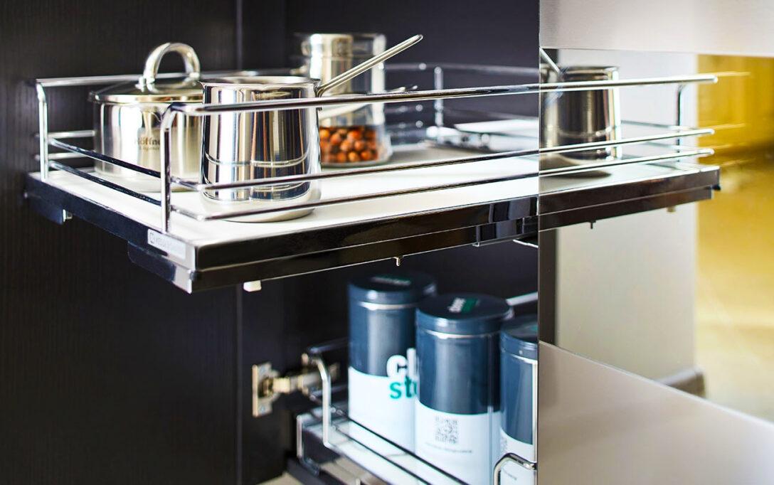 Large Size of Ariane Moderne Grifflose Einbaukche Mit Groer Kochinsel Eckküche Elektrogeräten Kräutertopf Küche Deckenleuchten Einbauküche Ohne Kühlschrank Sitzecke Wohnzimmer Küche Ohne Kühlschrank
