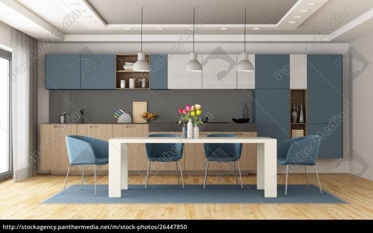 Medium Size of Küche Blau Weie Und Blaue Moderne Kche Stockfoto 26447850 Ebay Einbauküche Vinylboden Miele Polsterbank L Form Arbeitsplatte Ohne Hängeschränke Werkbank Wohnzimmer Küche Blau