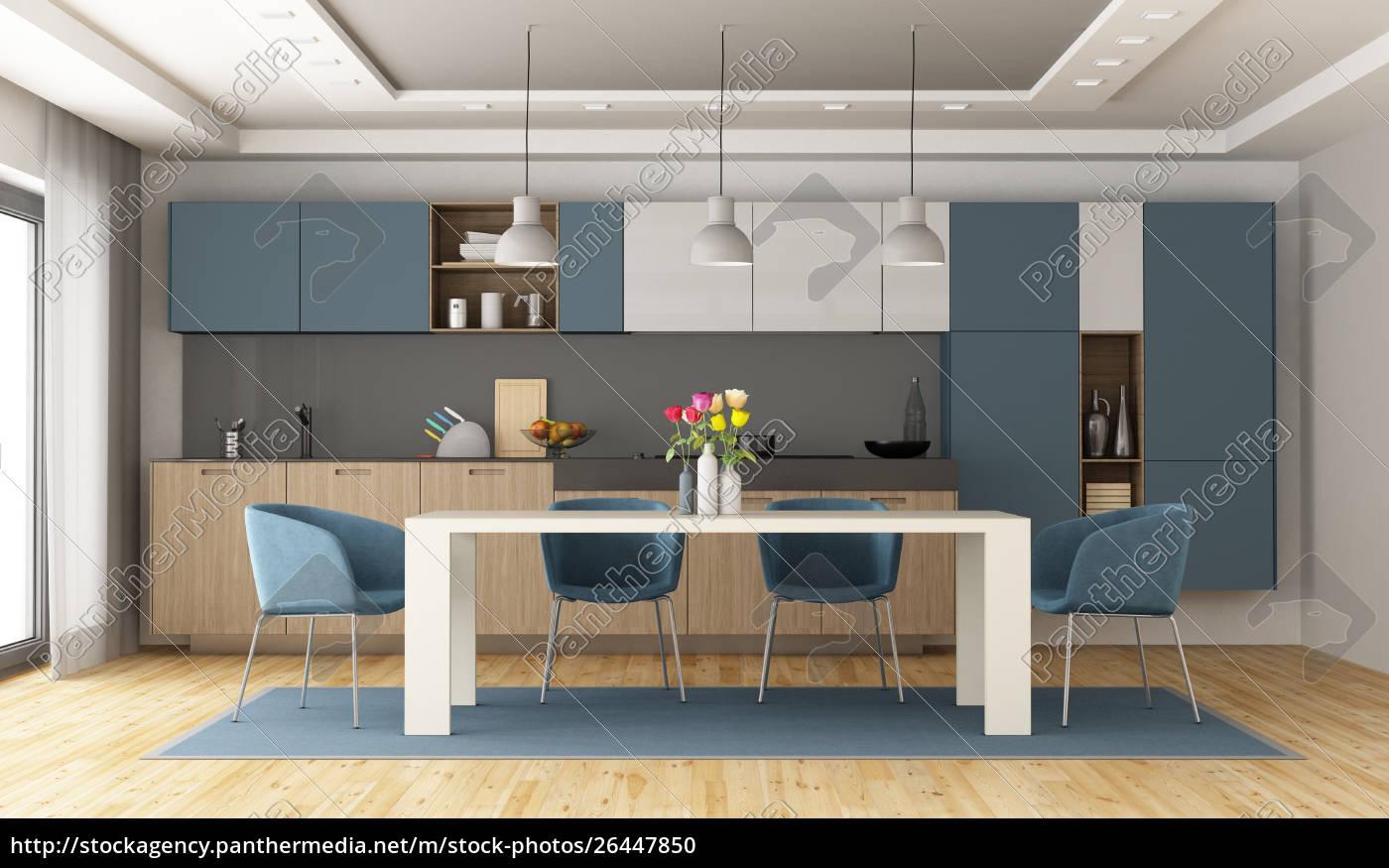 Full Size of Küche Blau Weie Und Blaue Moderne Kche Stockfoto 26447850 Ebay Einbauküche Vinylboden Miele Polsterbank L Form Arbeitsplatte Ohne Hängeschränke Werkbank Wohnzimmer Küche Blau