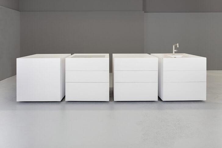 Medium Size of Exklusive Modulkche Mit Steinfronten In Wei Wohnzimmer Modulküchen