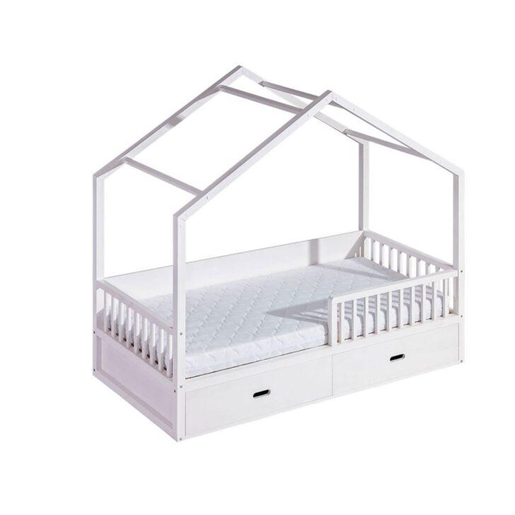 Kinderbett Mädchen 90x200 Pompano Inkl Lattenrost Bett Mit Betten Bettkasten Weißes Schubladen Weiß Und Matratze Kiefer Wohnzimmer Kinderbett Mädchen 90x200