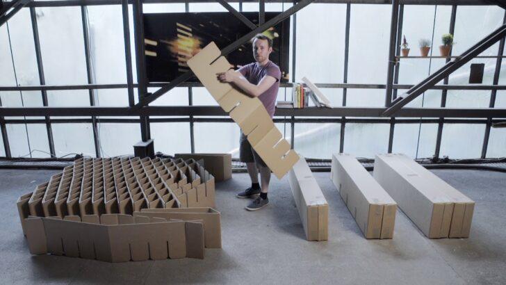 Medium Size of Pappbett Ikea Room In A Bodas Bett 20 Funktionsweise Youtube Modulküche Betten Bei Küche Kosten Miniküche 160x200 Kaufen Sofa Mit Schlaffunktion Wohnzimmer Pappbett Ikea