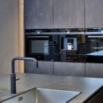 Küche Dunkel Contur Targa Kche In Dunkler Stahl Optik Kaufen Mit Elektrogeräten Segmüller Wandtatoo Abfallbehälter Was Kostet Eine Neue Einbauküche Wohnzimmer Küche Dunkel