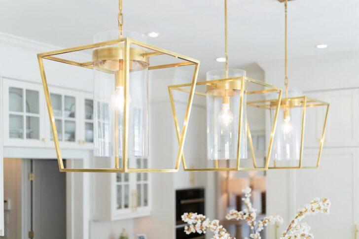 Medium Size of Lampe über Kochinsel Brushed Gold Pendant Lights Above Kitchen Island Pendelleuchte überwurf Sofa L Küche Mit Wohnzimmer Tischlampe Led Lampen Schlafzimmer Wohnzimmer Lampe über Kochinsel