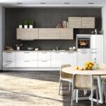 Küche Zweifarbig Wohnzimmer Kche Betonoptik Küche Kochinsel Wandverkleidung Fliesenspiegel Wandsticker Bodenbeläge Tapete Modern Spülbecken Vorratsdosen Teppich Eckküche Mit