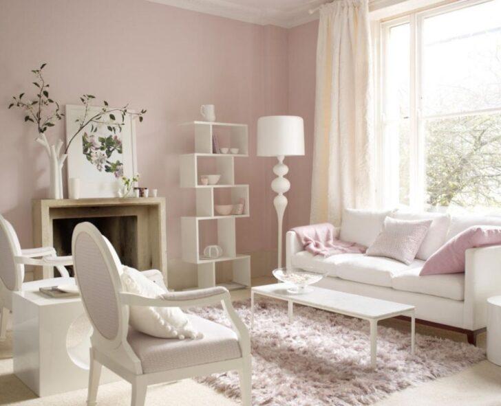 Medium Size of Wandfarbe Rosa Schlafzimmer Moebel In Weiss Und Zartrosa Küche Wohnzimmer Wandfarbe Rosa