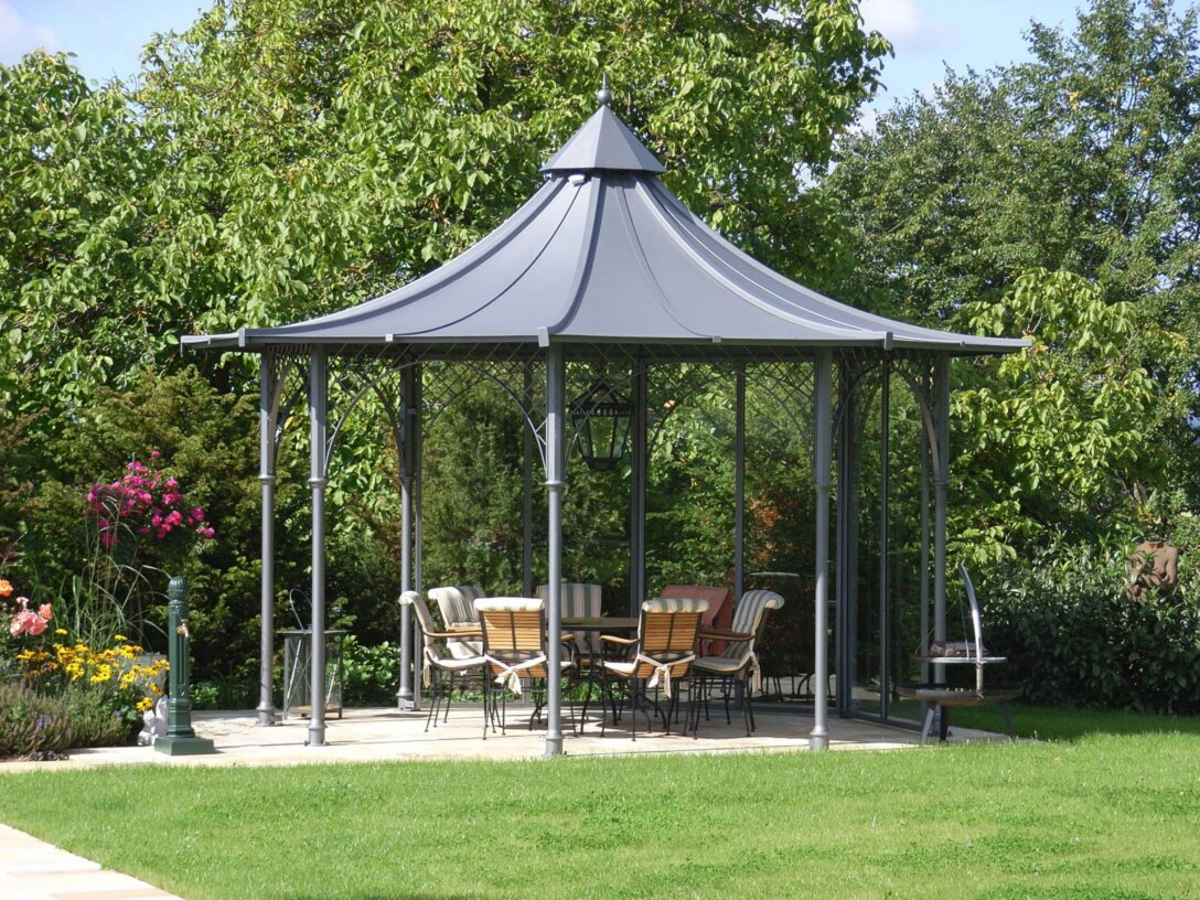 Large Size of Pavillon Eisen Garten Holz Rund Gartenpavillon Aus Kaufen Mit Wohnzimmer Pavillon Eisen