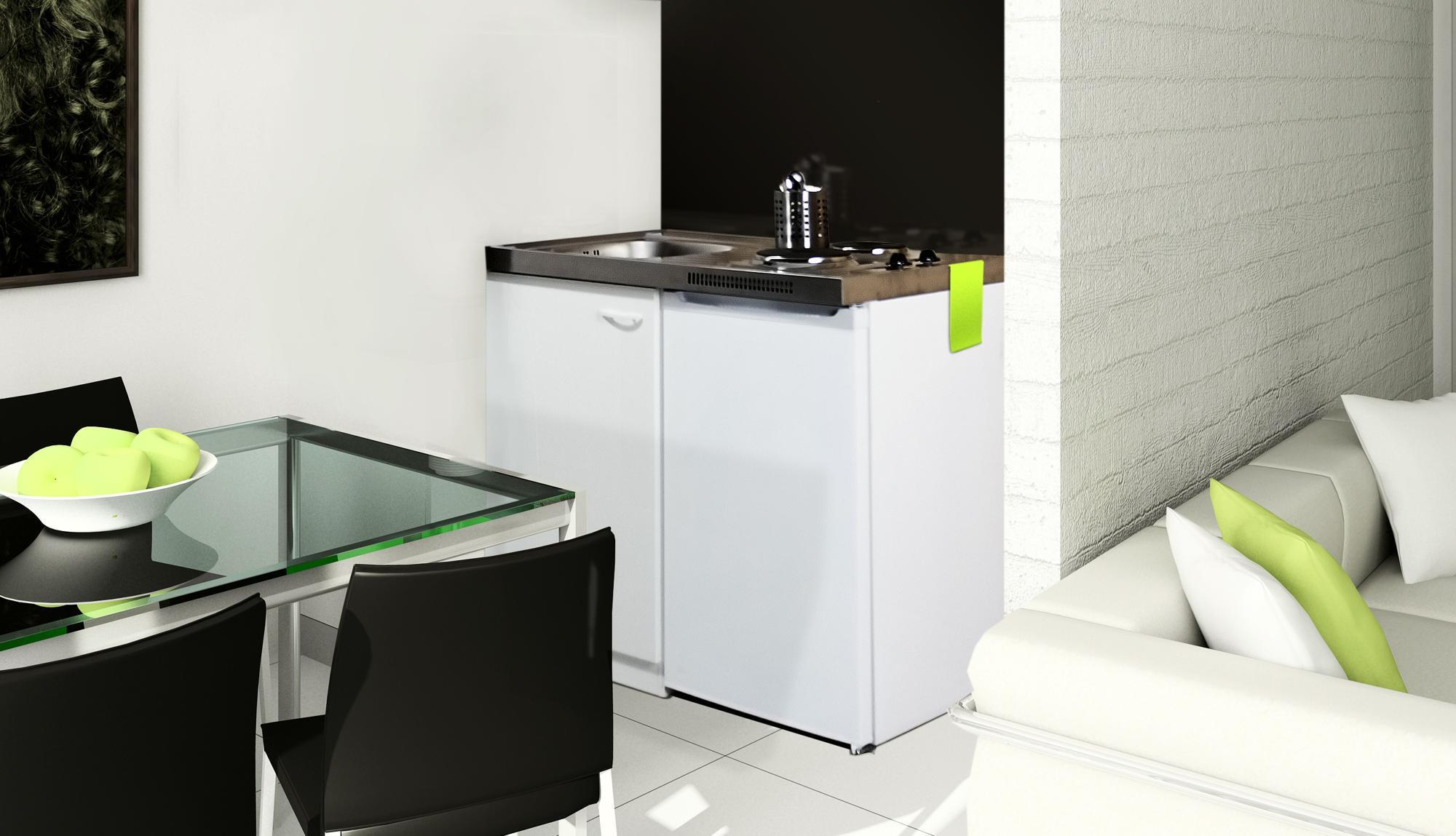 Full Size of Miniküchen Respekta Pantry 100sv Minikche Mit Khlschrank Wohnzimmer Miniküchen
