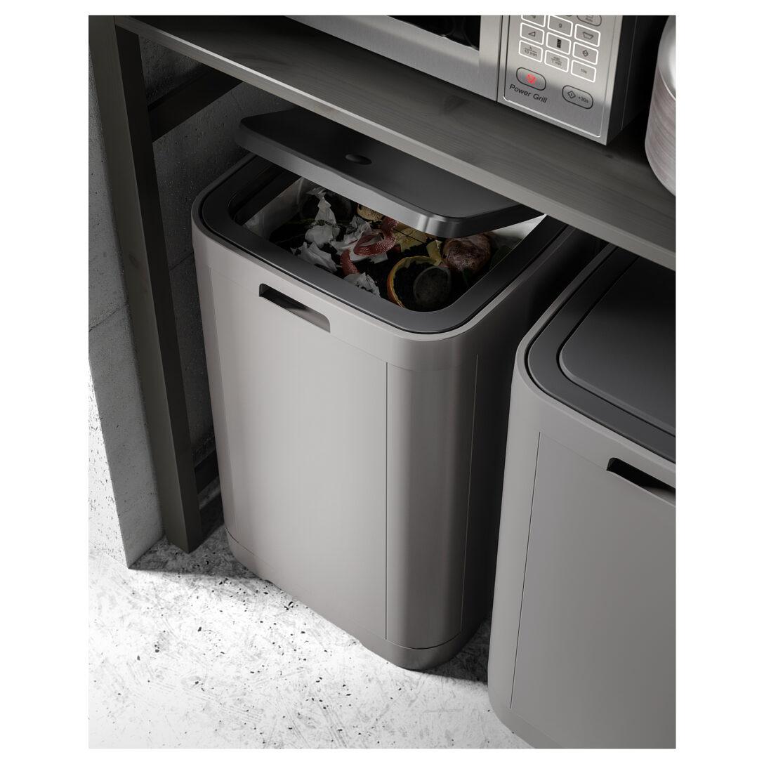 Large Size of Abfallbehälter Ikea Gigantisk Touch Top Trash Can Dark Gray 16 Gallon 60 L Mit Küche Kaufen Kosten Betten 160x200 Sofa Schlaffunktion Modulküche Bei Wohnzimmer Abfallbehälter Ikea