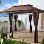 Terrassen Pavillon Garten Inca 3x4m Mocca Mit Wohnzimmer Terrassen Pavillon