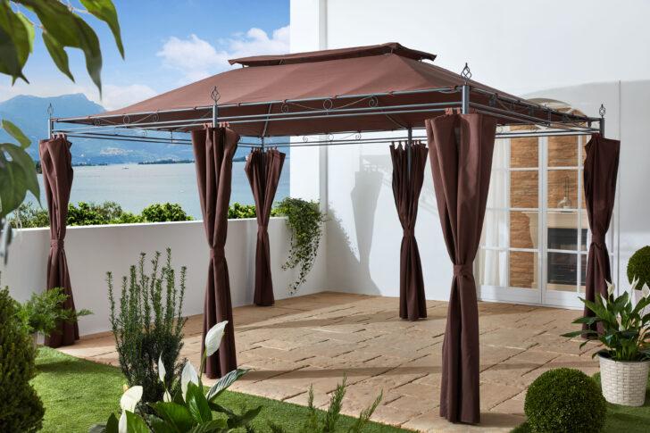Medium Size of Terrassen Pavillon Garten Inca 3x4m Mocca Mit Wohnzimmer Terrassen Pavillon